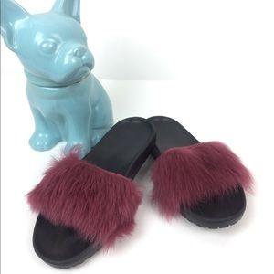 UGG Royale Fur Slides Sandal